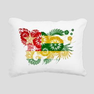 Togo textured flower Rectangular Canvas Pillow