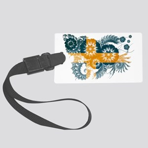 Sweden textured flower Large Luggage Tag