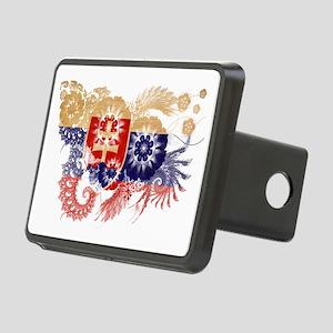 Slovakia textured flower Rectangular Hitch Cover