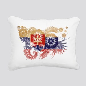 Slovakia textured flower Rectangular Canvas Pillow