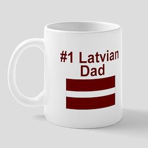 #1 Latvian Dad Mug