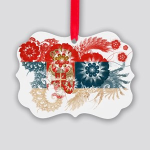 Serbia textured flower Picture Ornament