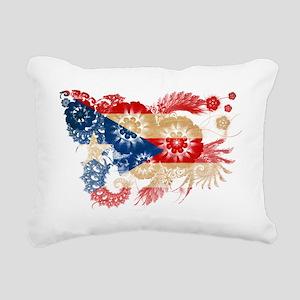 Puerto Rico textured flo Rectangular Canvas Pillow