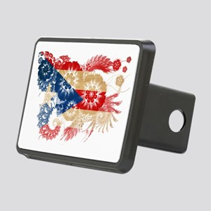 Puerto Rico textured flowe Rectangular Hitch Cover