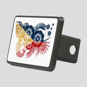Philippines textured flowe Rectangular Hitch Cover