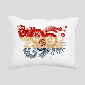 Paraguay textured flower Rectangular Canvas Pillow