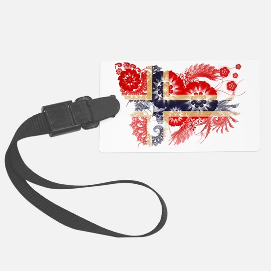 Norway textured flower Luggage Tag