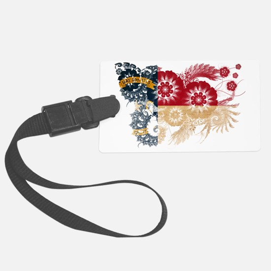 North Carolina textured flower Luggage Tag