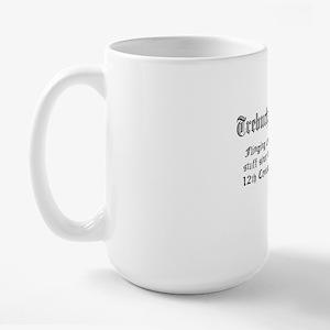 trebuchet no parchment FINAL Large Mug