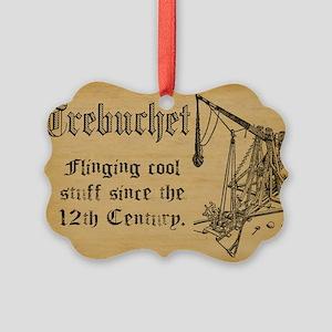 trebuchet FINAL Picture Ornament