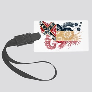 Mississippi textured flower Large Luggage Tag