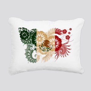 Mexico textured flower Rectangular Canvas Pillow