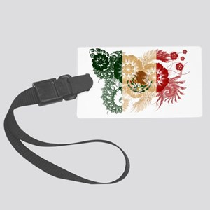 Mexico textured flower Large Luggage Tag