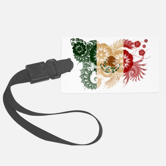 Mexico textured flower Luggage Tag