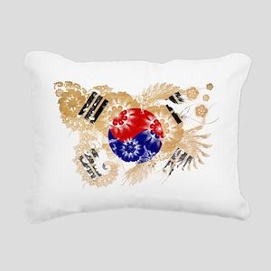 Korea (South) textured f Rectangular Canvas Pillow