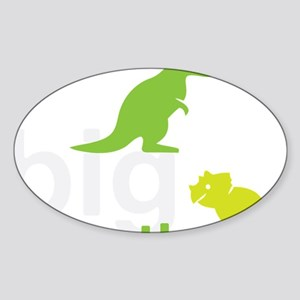 big brother wh Sticker (Oval)