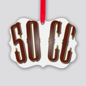 50CC-RedShiny Picture Ornament