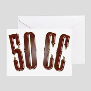 50CC-RedShiny Greeting Card