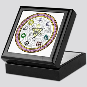 wheel of spirits color Keepsake Box