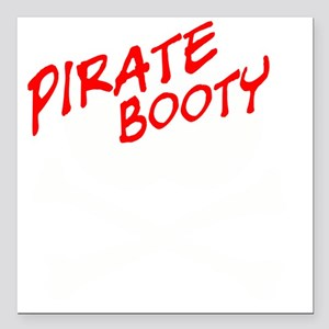 """PIRATE BOOTY Square Car Magnet 3"""" x 3"""""""