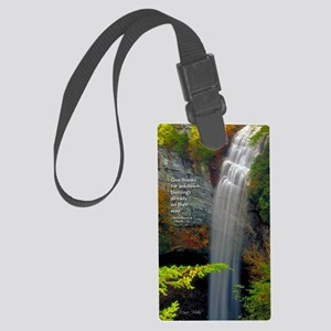 Waterfall Blessings Large Luggage Tag