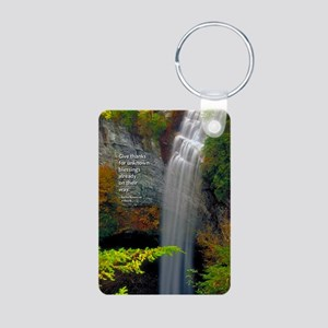 Waterfall Blessings Aluminum Photo Keychain