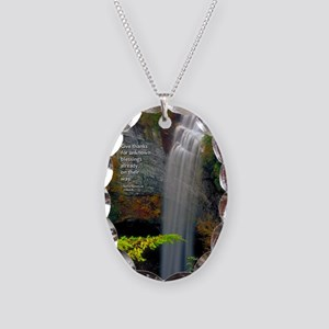 Waterfall Blessings Necklace Oval Charm