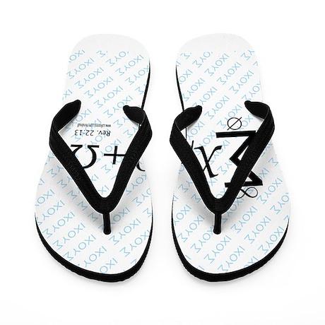 Alpha Omega IXOYE Flip Flops by mindmall
