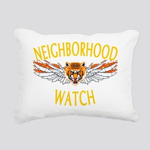 Neighborhood-Watch-Dark Rectangular Canvas Pillow