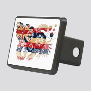 Hawaii textured flower Rectangular Hitch Cover