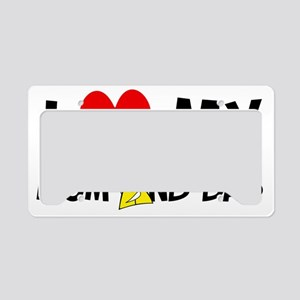 I Love Mom and dad License Plate Holder