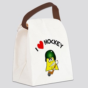 heart hockey Canvas Lunch Bag