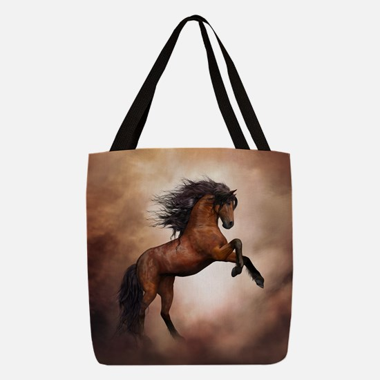 Wild Horse Polyester Tote Bag