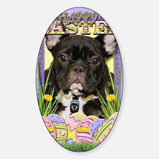 EasterEggCookiesFrenchBulldog Sticker (Oval)
