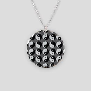 YinYangIPAD Necklace Circle Charm