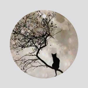catmoon7100 Round Ornament