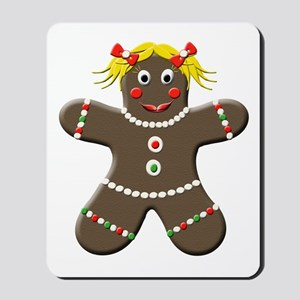 Gingerbread Girl Christmas Mousepad