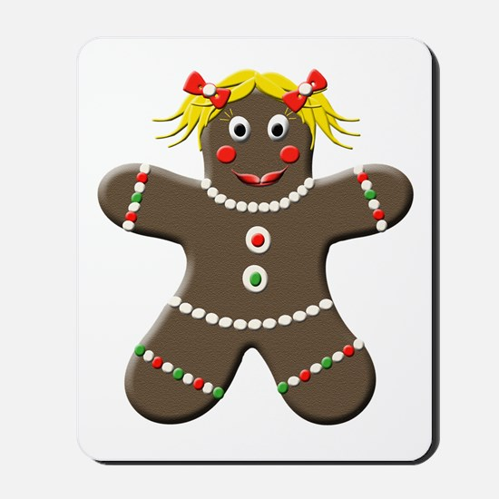 Gingerbread Girl Christmas Mousepad