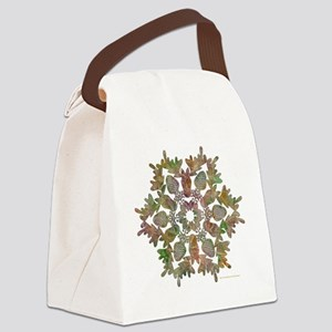 moose snowflake Canvas Lunch Bag