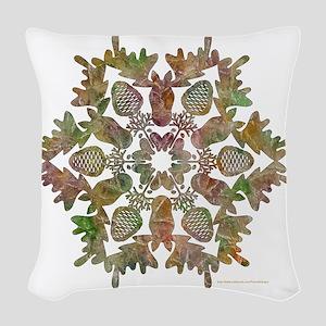 moose snowflake Woven Throw Pillow