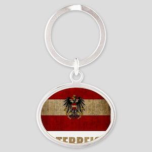 austria6Bk Oval Keychain