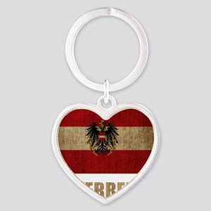 austria6Bk Heart Keychain