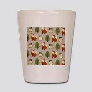 Fox and Owl Shower Curtain Shot Glass