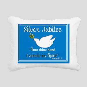 Silver Jubilee dove blue Rectangular Canvas Pillow