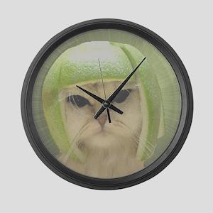melonheadcat7100 Large Wall Clock