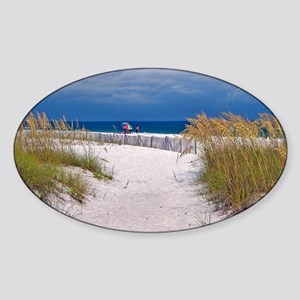 Carefree Beach Days Sticker (Oval)