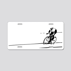 Cyclist Illustration Aluminum License Plate