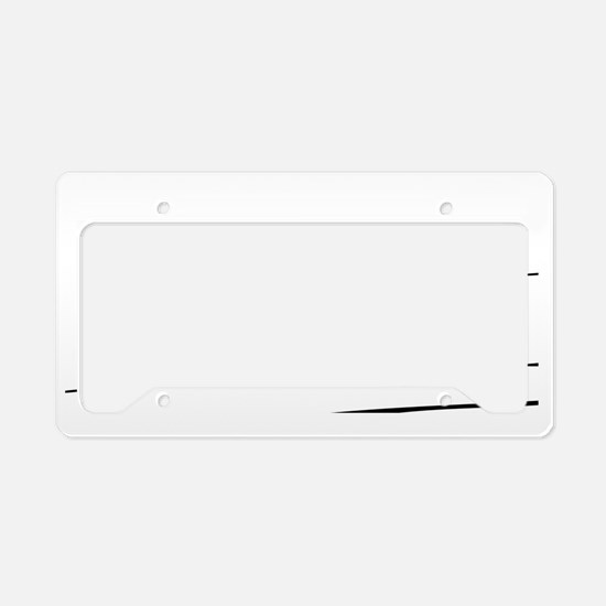 Cyclist Illustration License Plate Holder