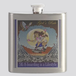 girl tee lifestyle Flask