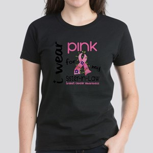 - I Wear Pink 43 Sister-In-La Women's Dark T-Shirt